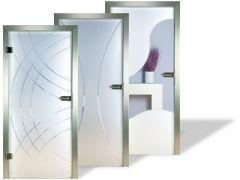 Glastüren satiniert mit modernem Rillenschliff kaufen | beschlag ...