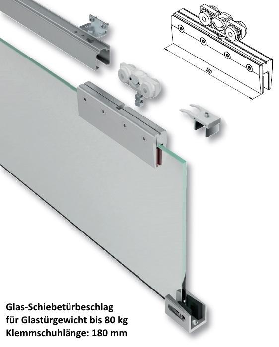 Schiebetürbeschlag  Glas-Schiebetürbeschläge in Aluminium jetzt online kaufen im Shop ...