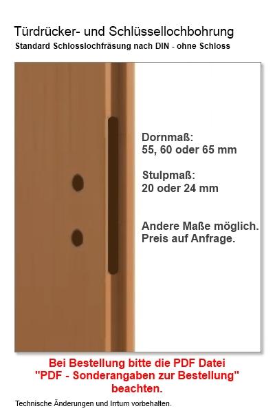 Türbreite standard  Tür weiß Stiba Plus 3F - Türen und Beschlag Paul 24 GmbH
