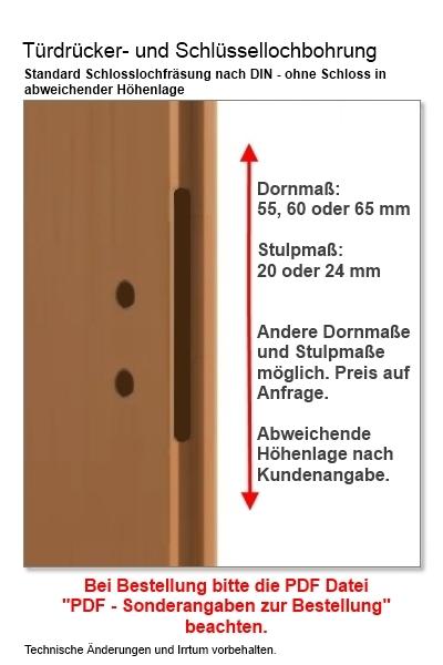 Türblattmaße din  Innentüren von Jeldwen Moralt Wirus Farblack RAL NCS gefälzt ...