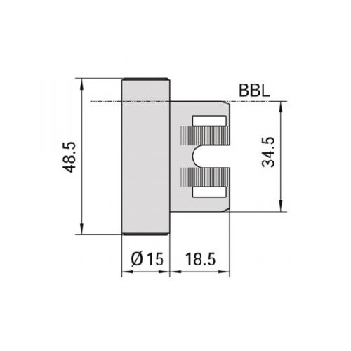 Stahlzarge maße  Bandmittelteil für Stahlzargen V800 WF jetzt online bestellen auf ...