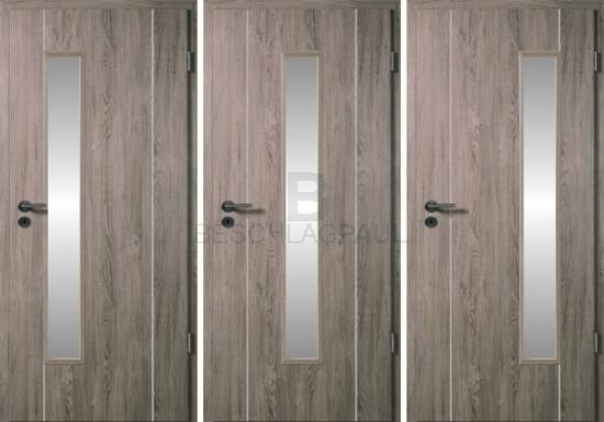 Innentüren mit lichtausschnitt  Großes Angebot von Lichtöffnungstüren mit Lisenen gefälzt von ...