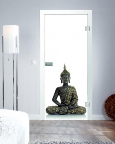 ganzglast ren mit fusion digitaldruck motiv buddha g nstig im shop von beschlag t ren. Black Bedroom Furniture Sets. Home Design Ideas