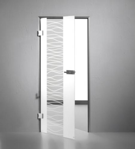 ganzglast r sandstrahlungdesign sensita wave 2 von dorma. Black Bedroom Furniture Sets. Home Design Ideas