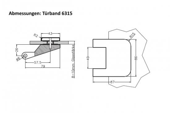 3 teilige glast rb nder online bestellen beschlag paul. Black Bedroom Furniture Sets. Home Design Ideas