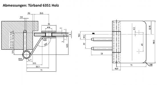 Bevorzugt 3-teilige Glastürbänder für stumpfe Holzzargen von beschlag-paul QG19