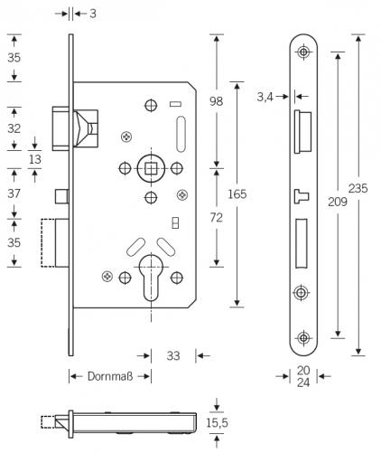 einsteckschloss sf serie 20 apk fh mit anti panik funktion selbstverriegelung din 18250 im. Black Bedroom Furniture Sets. Home Design Ideas