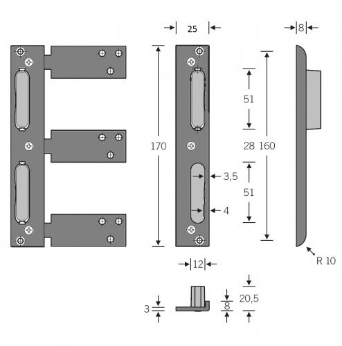 Einbruchhemmende tür  Winkelschließbleche mit Kunststoffeinsatz einbruchhemmende Türen ...