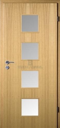 Bekannt HPL Tür Eiche hell Glas 14 - Türen und Beschlag Paul 24 GmbH ID74