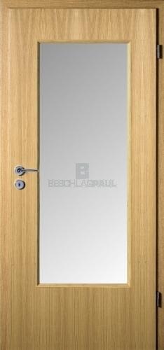 Innentüren eiche mit glas  HPL Tür Eiche hell Glas 23 - Türen und Beschlag Paul 24 GmbH