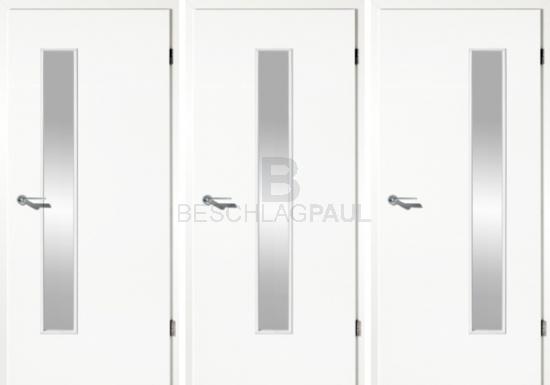 Beliebt Tür Uni weiß mit Glas - Türen und Beschlag Paul 24 GmbH DE02