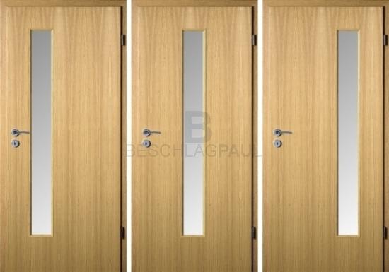 Turbo HPL Tür Eiche hell Glas 62 - Türen und Beschlag Paul 24 GmbH RW05