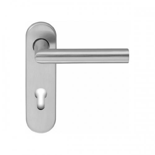 aluminium kurzschildgarnituren kaufen beschlag t ren und beschlag paul 24 gmbh. Black Bedroom Furniture Sets. Home Design Ideas