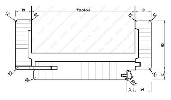 design zarge aus holz in wei vz 3 t ren und beschlag paul 24 gmbh. Black Bedroom Furniture Sets. Home Design Ideas