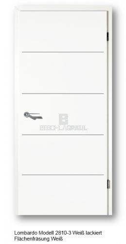 Innentüren weiß preise  Tür weiss mit Fräsungen 28100-3 - Türen und Beschlag Paul 24 GmbH