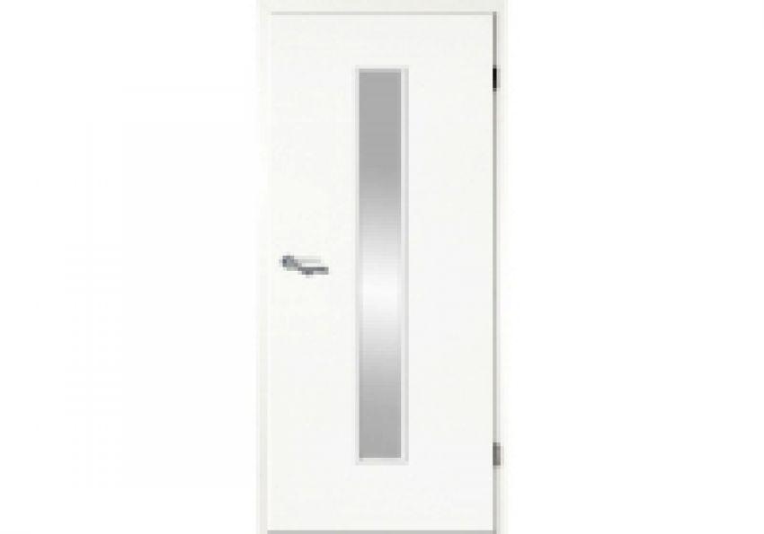 Türblatt weiß  Weißlack Tür mit Lichtausschnitt LÖ 62 - Türen und Beschlag Paul ...