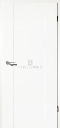 Türblatt weiß  Tür mit Lisenen weiß Vollspan - Türen und Beschlag Paul 24 GmbH