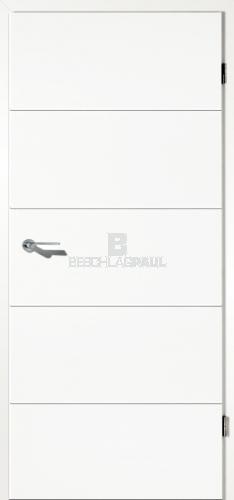 t r mit lisenen in ral 9016 vollspan t ren und beschlag paul 24 gmbh. Black Bedroom Furniture Sets. Home Design Ideas